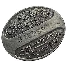 Vintage Ohio Chauffeur Badge