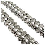 Vintage Modernist Coil Spiral Necklace Bracelet Set