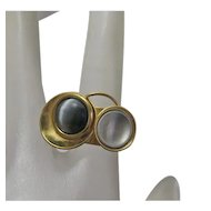 Christophe Poly Modernist Abstract Artisan Ring Size 5 and 1/2