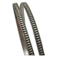 Vintage Sterling Silver Bangle Bracelet Set