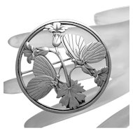 Georg Jensen Denmark  Danish Sterling Silver Butterfly Pin Design # 283
