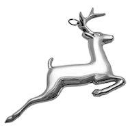 Vintage Gorham Sterling Silver American Heritage Society 1973 Reindeer Ornament
