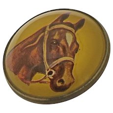 Antique Domed Horse Bridle Rosette Pin