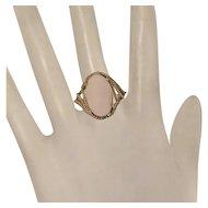 Vintage 14K Angel Skin Coral Ring Size 9