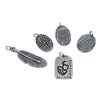 Visible Faith Sterling Silver Jewelry Love Faith Hope Mother Arrow Pendants Charms