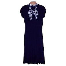 Vintage Blue Crepe Dress XS / S