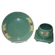 "Coors Pottery 7"" Dessert Plate And Honey Pot"