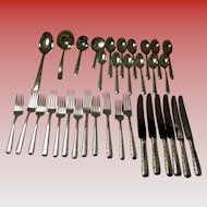 "Towle Service For 6 Sterling ""Candlelight"" Flatware Set 34 Pc's 1934"
