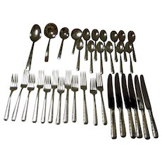 """Towle Service For 6 Sterling """"Candlelight"""" Flatware Set 34 Pc's 1934"""
