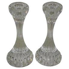 "Pair Of Baccarat Crystal Massena"" Single Light"" Candlestick Holders"