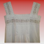 Victorian White Linen Nightgown Size XS