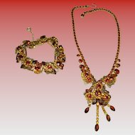 Vintage Juliana Necklace & Bracelet Set