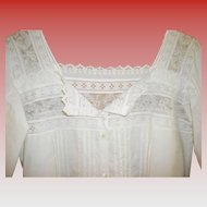 Victorian White Cotton Nightgown