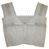 Victorian White Blouse / Crop Top XXS
