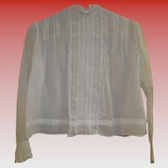 Victorian Off White Sheer Linen Blouse
