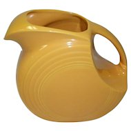 Vintage Yellow Fiesta Ware Large Disc Water Pitcher