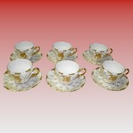 Set Of 6 Demi Cups & Saucers
