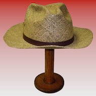 Men's Vintage Straw Hat By Country Gentleman Size Large