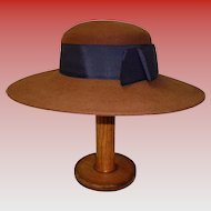 Adolfo II Excello 100% Brown Wool Hat With Original Tags