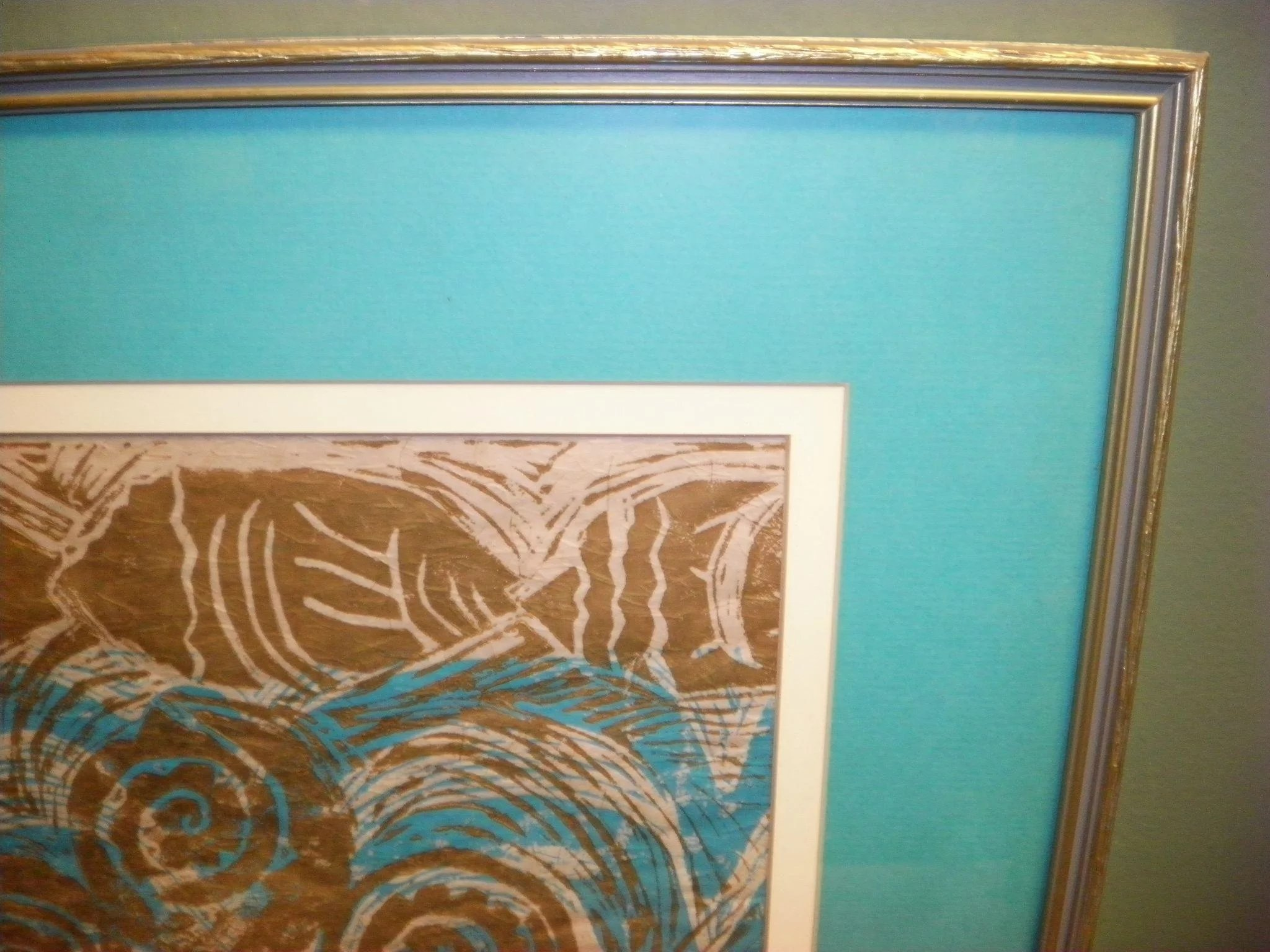 Delores White Matted And Framed Art Print Cameo Antique
