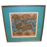Delores White Matted and Framed Art Print
