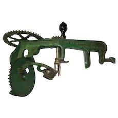 Vintage Cast Iron Turntable Apple Peeler