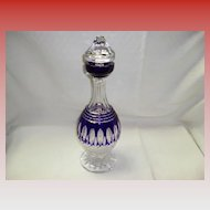 Clarendon Waterford Cobalt Blue Decanter