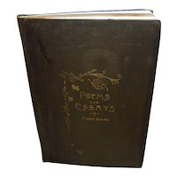 Rare 1888 Poems and Essays by Mary Smith