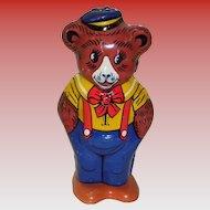 Vintage Tin Litho Key Wind-Up Bear By J. Chein