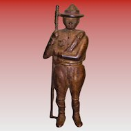 Cast Iron A. C. Williams Boy Scouts Soldier Boy Still Bank