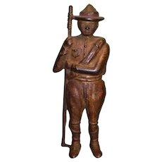 Cast Iron A. C. Williams Boy Scouts Soldier Boy Still Bank