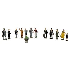 Set Of 13 Hand Painted Lead Figures From England & France