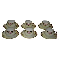 Lovely Set Of 6 J & C Bavaria Cups And Saucers