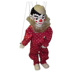 "Vintage 1930's Effanbee Marionette ""Clippo The Clown"" Doll Puppet"