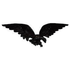 Vintage Cast Metal American Bald Eagle Sculpture /House Decor