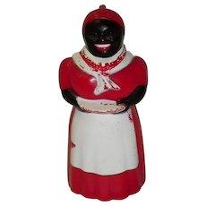 Black Americana Aunt Jemima Syrup Dispenser F & F Mold & Die Ohio USA