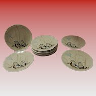 Set of 11 Red Wing Bob White Quail Bread & Butter Plates