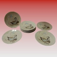 Set of 10 Red Wing Bob White Quail Salad Plates