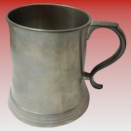 Antique 1898 Reed & Barton Pewter Tankard / Stein With Clear Glass Bottom