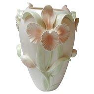 Fitz and Floyd 3D Floral Iris Vase FF Japan