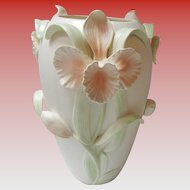 Fitz And Floyd 3D Floral Iris Vase FF Japan