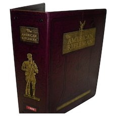 """1982 Complete Year """"The American Rifleman"""" 12 Magazines In Official Binder / Album"""