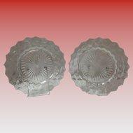 "2 American Fostoria 9.5"" Dinner Plates"