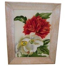 """Signed Benjamin Jorj Harris Watercolor """"Flowers"""" Framed Painting"""