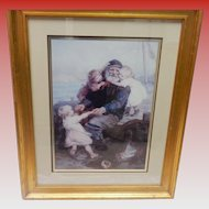 """Framed And Matted Lithograph Print """"Who Do You Love"""""""