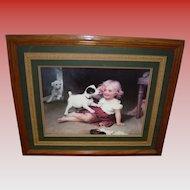 "Fred Morgan And Arthur Elsley Framed Print ""Ruff Play"""