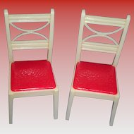 Set Of 2 Renwal Dollhouse High Back Chairs