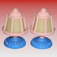 2 Miniature Dollhouse Lamps