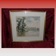 "Hans Figura ""Windsor Castle"" Etching In Color Limited Edition 67/250"
