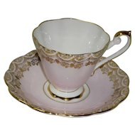 Royal Standard Pink And Gold Cup And Saucer